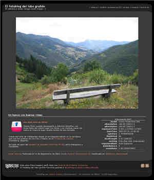 Captura del fotoblog