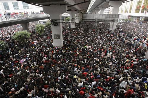 Guangzhou cerca de la estación de tren