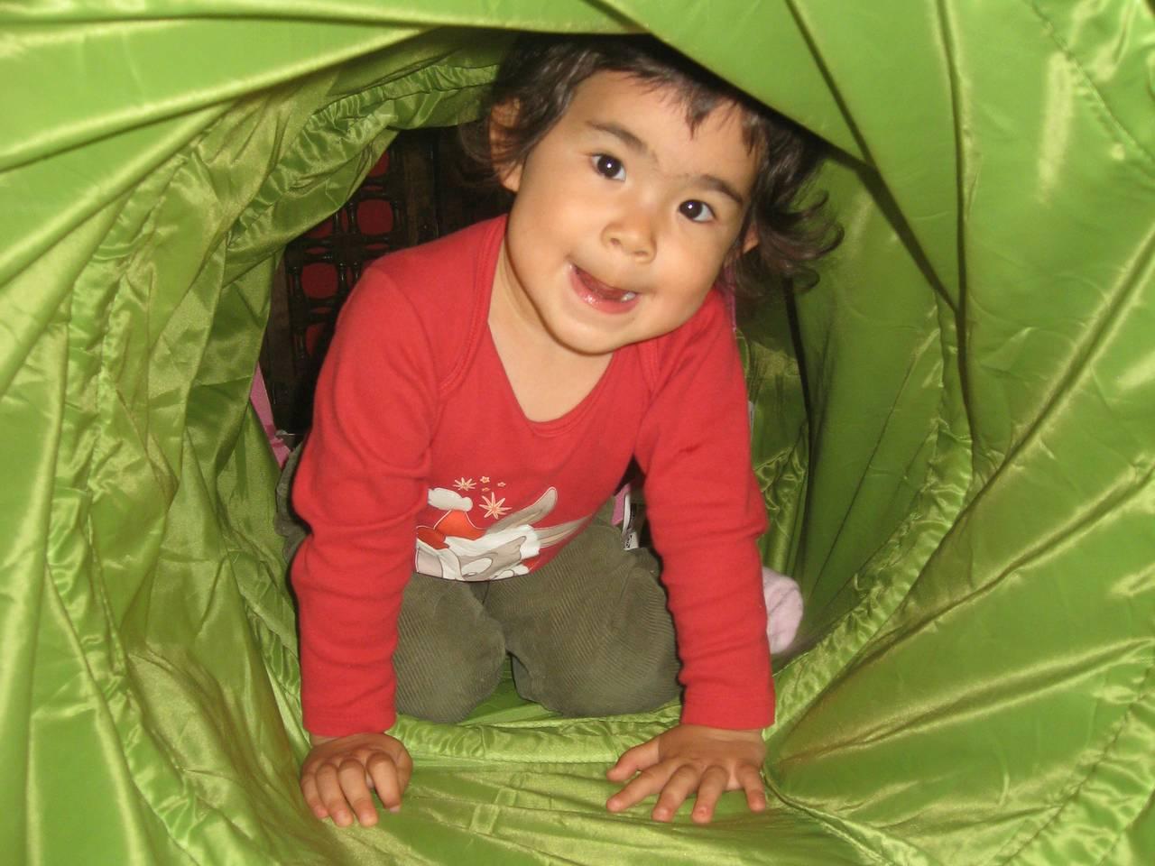 Nikita en Velilla (San Isidro 2012) dentro del tubo