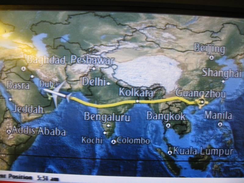 Llegando a Dubai a la vuelta